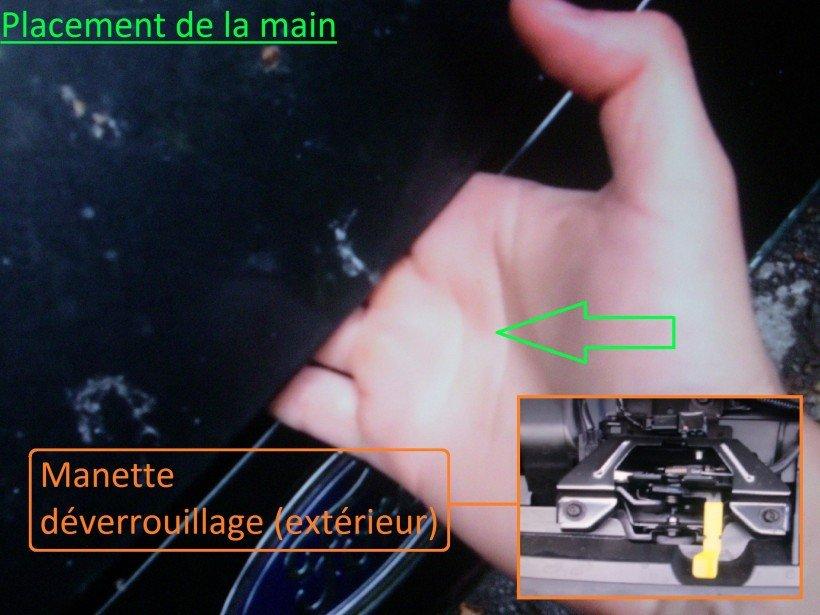 Placement de la main