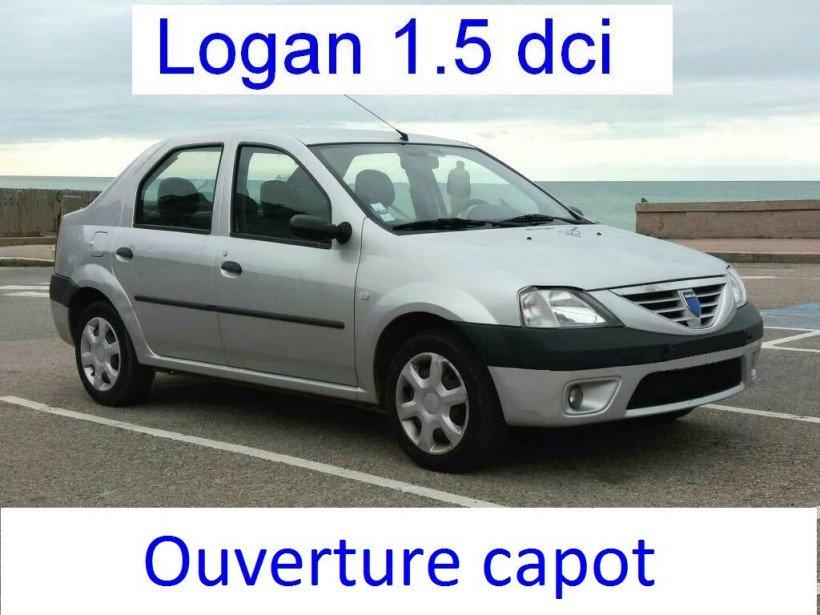 Ouverture capot sur Logan