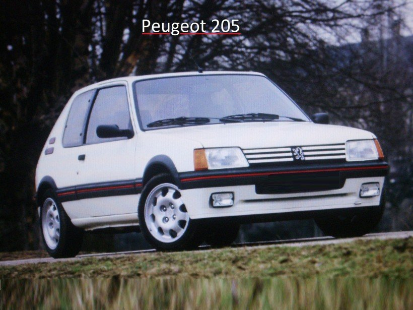 Ouverture capot sur Peugeot 205