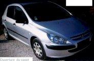 Ouverture capot sur Peugeot 307