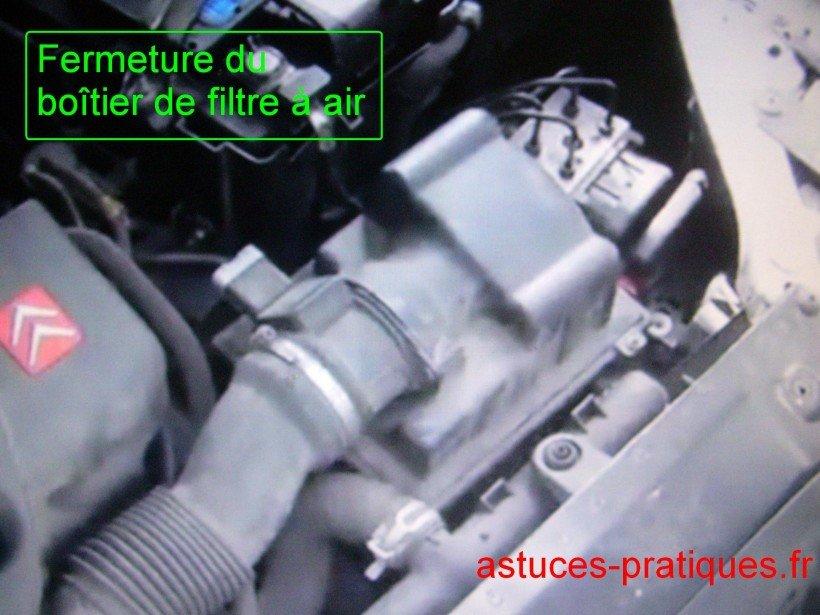 Fermeture du boîtier de filtre à air