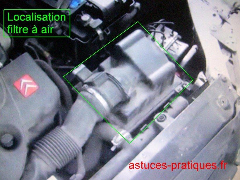 Localisation boîtier filtre à air
