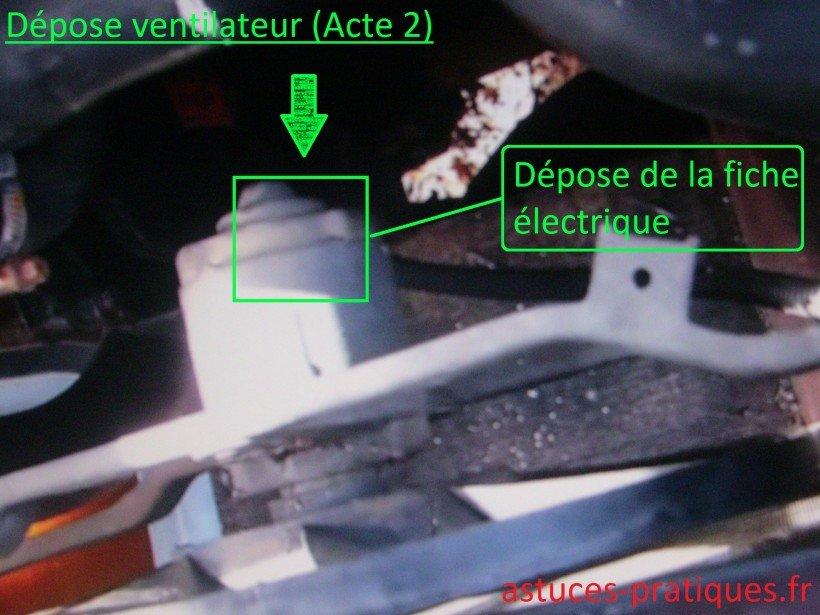Alimentation électrique du ventilateur
