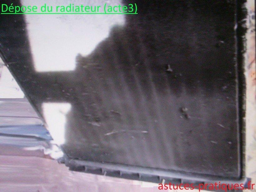 Dépose du radiateur