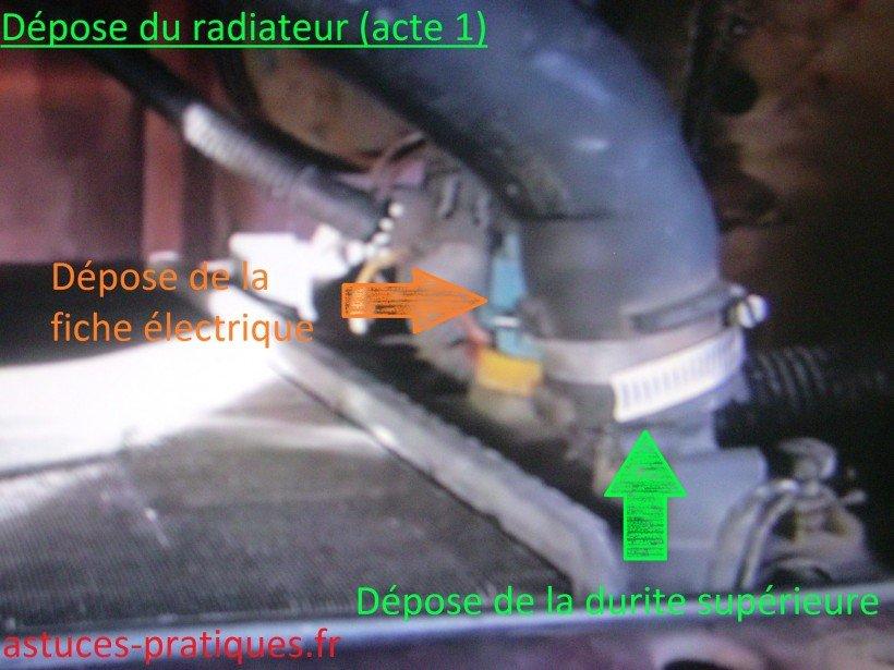 Dépose radiateur