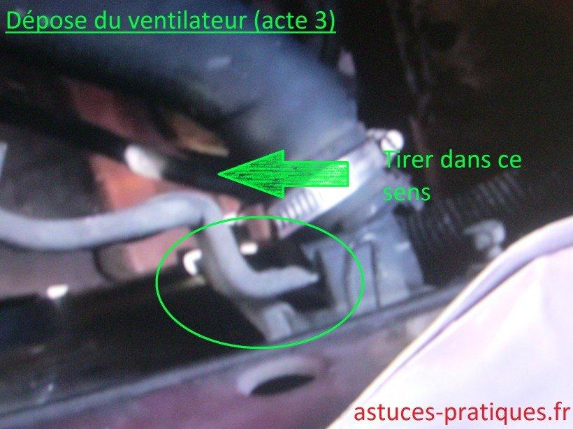 Dépose ventilateur 01