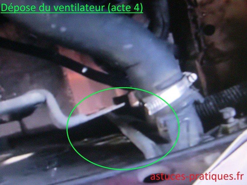 Dépose ventilateur