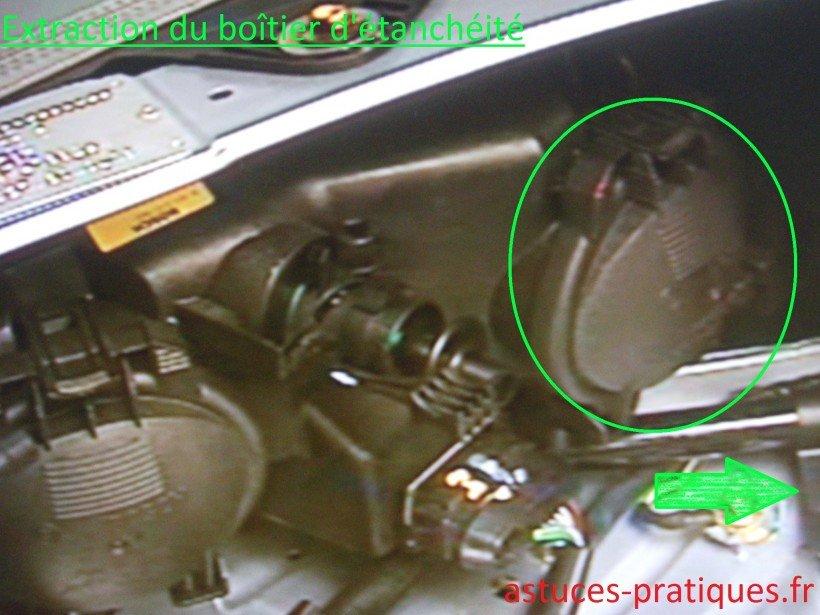 Extraction du boîtier d'étanchéité