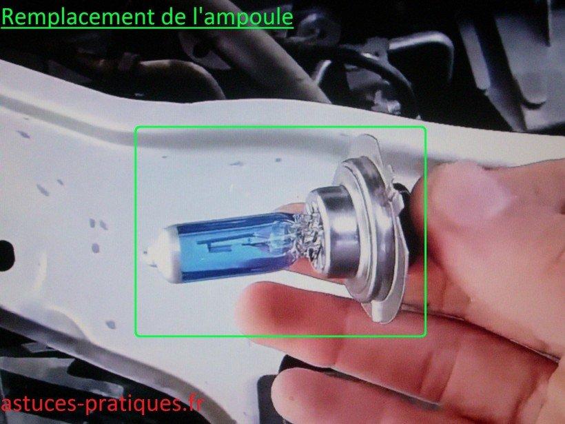 Remplacement de l'ampoule