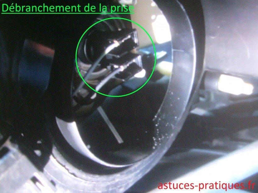 Connectique électrique de l'ampoule
