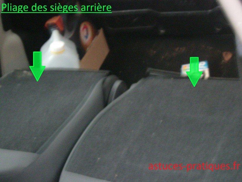 Pliage des sièges arrière