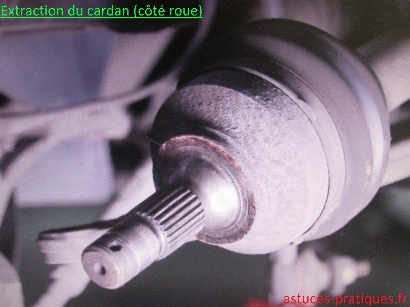 Extraction du cardan