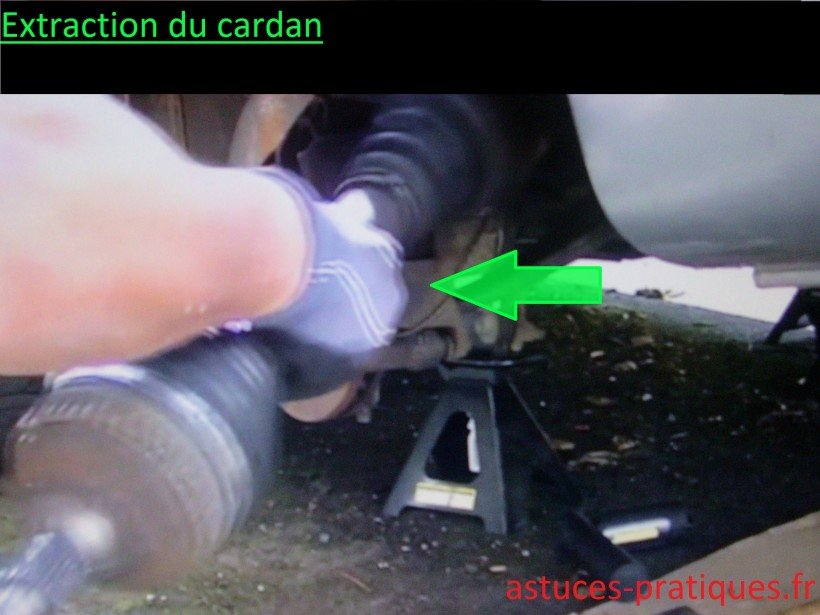 Extraction du cardan
