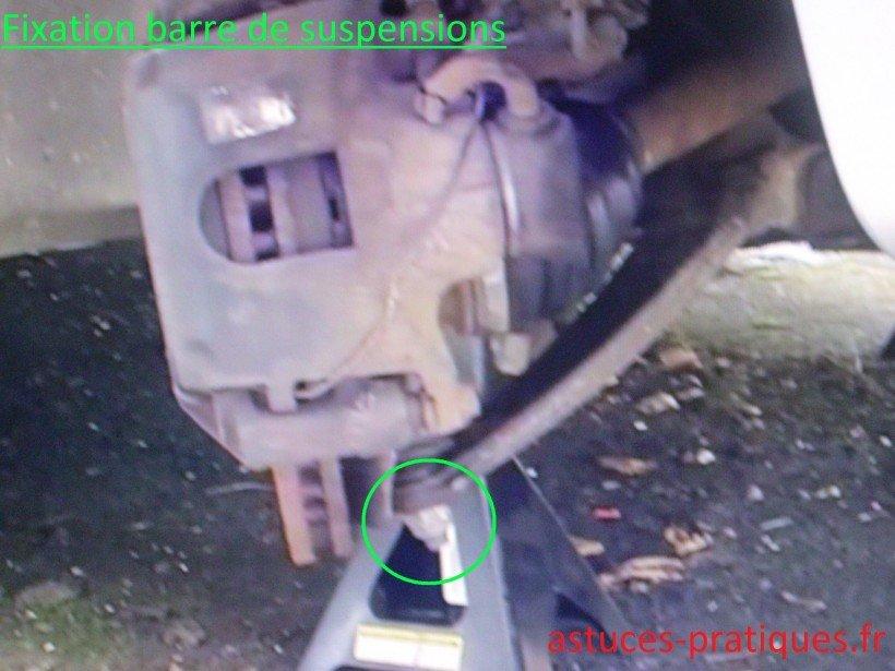 Fixation barre de suspensions