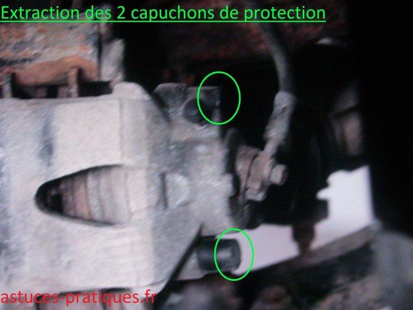 Extraction des 2 capuchons