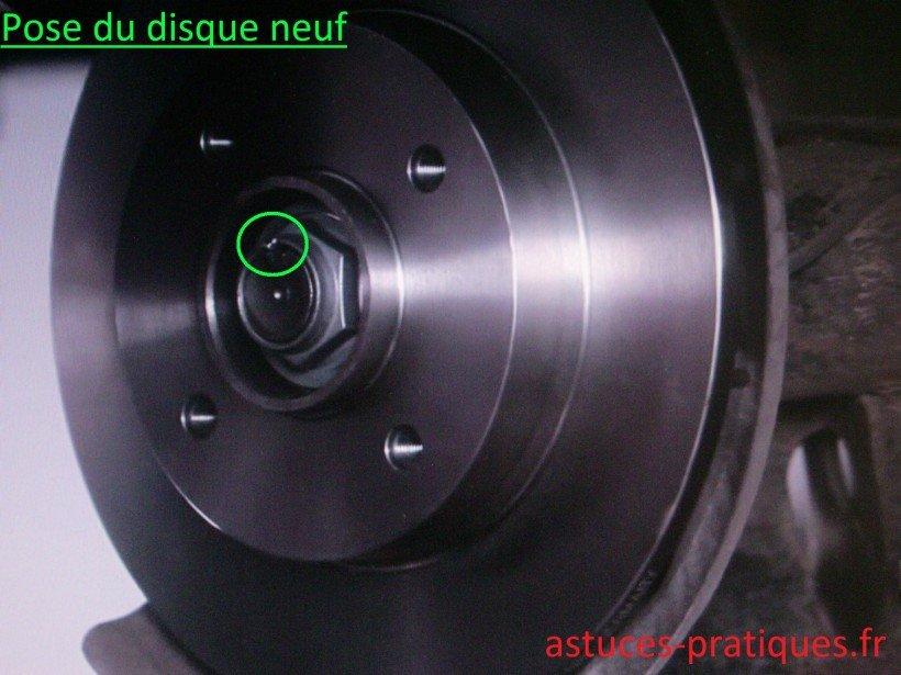 Pose du disque neuf