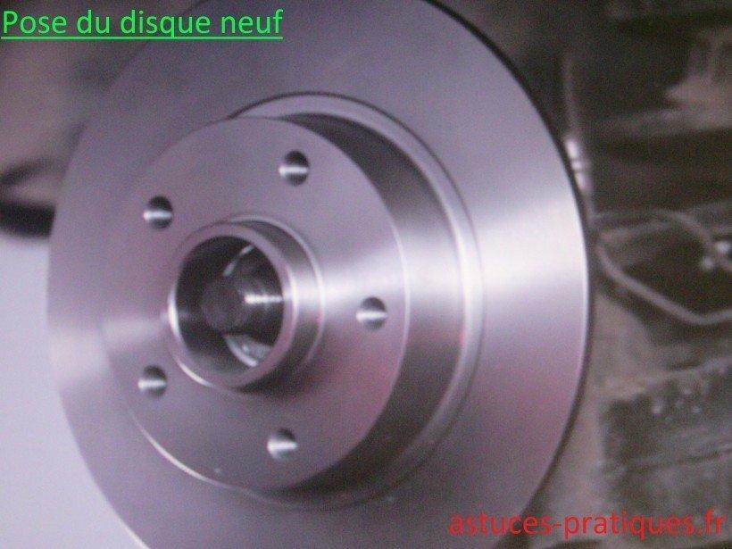 Pose disque neuf