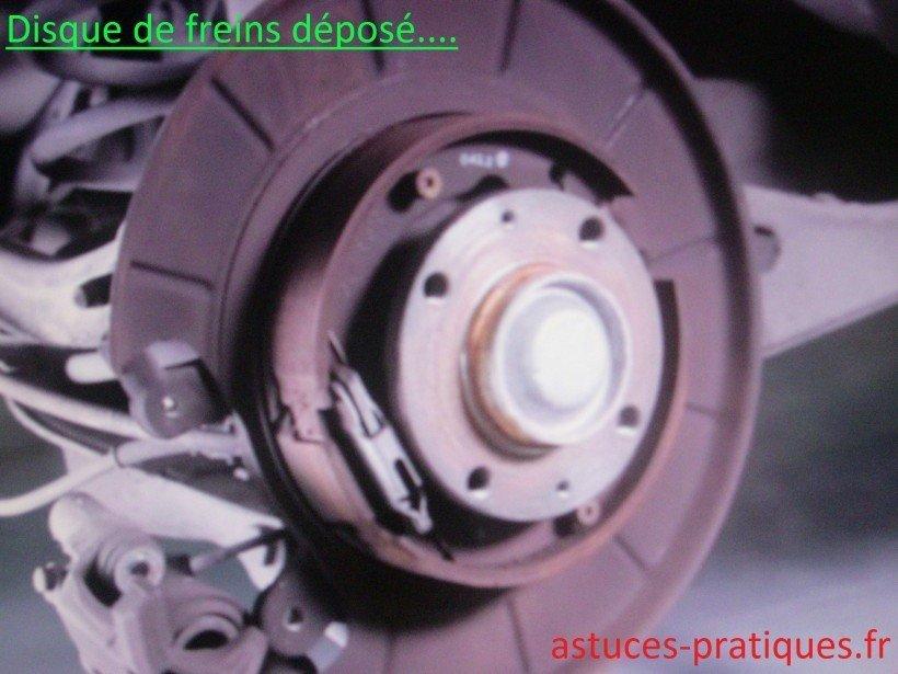Disque de freins déposé