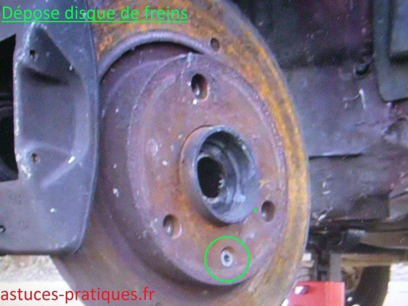 Disque de freins (dépose)