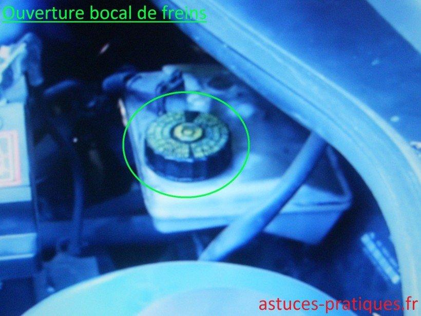Ouverture bocal de freins