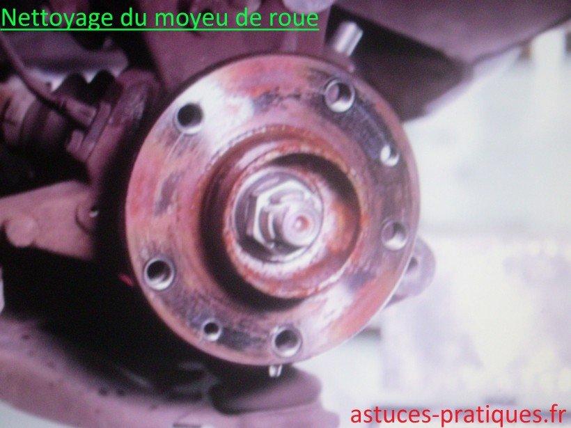 Nettoyage moyeu de roue