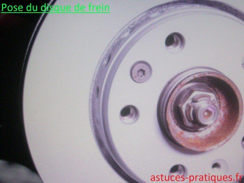 Pose disque de freins