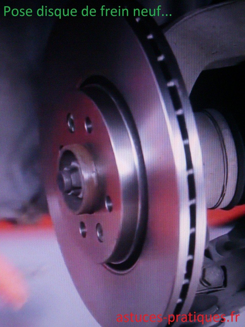 Pose disque de freins neuf