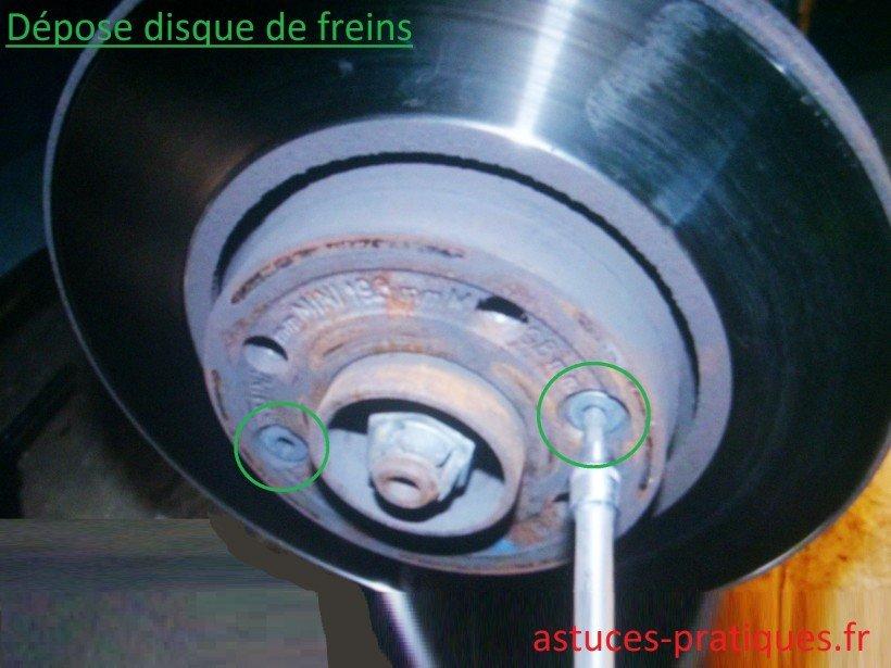 Disque de freins usagé