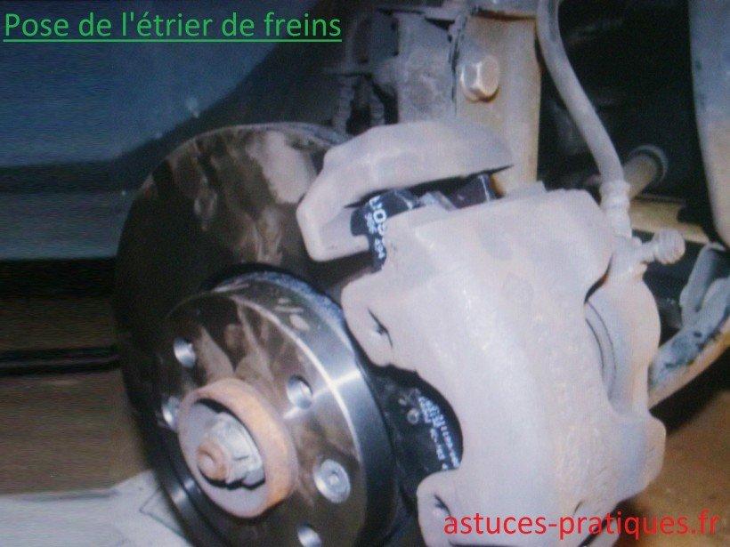Pose étrier / fermeture bocal de freins