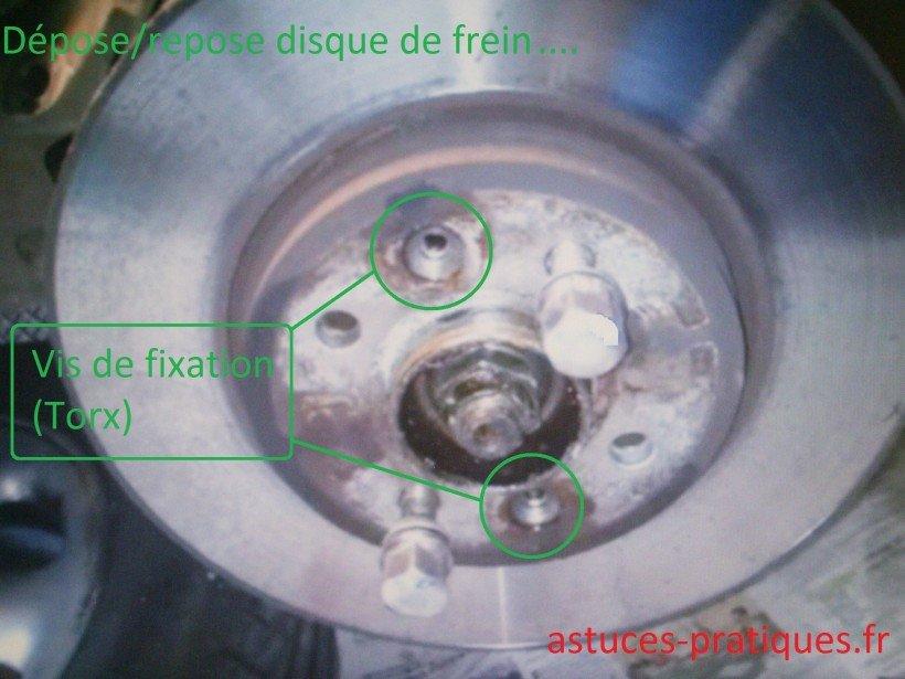 Dépose / pose disque de freins