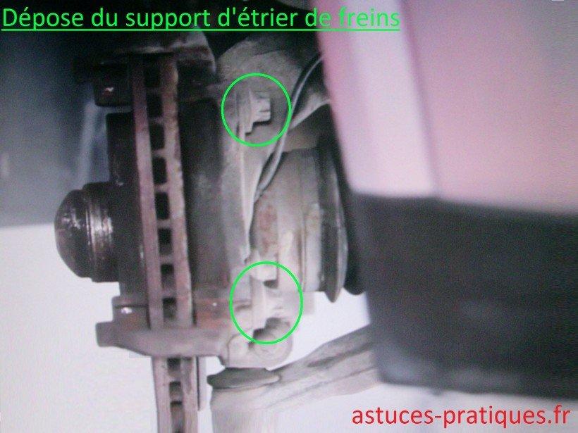 Support d'étrier de freins