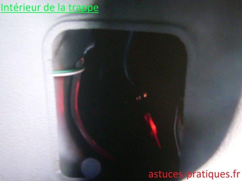 Intérieur trappe