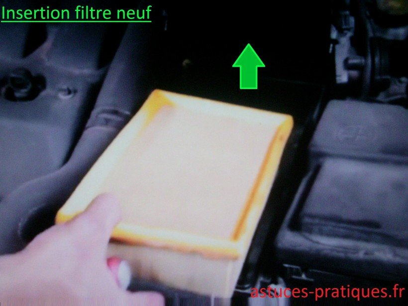 Insertion filtre neuf