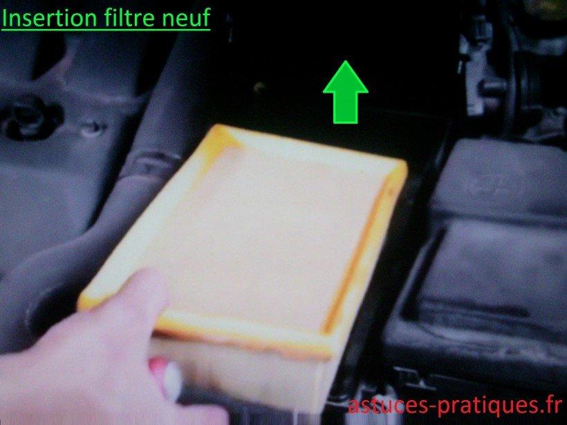 Insertion filtre neuf