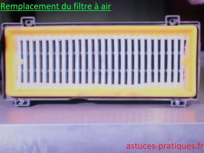 Remplacement du filtre à air