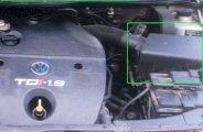 Localisation du boîtier de filtre à air