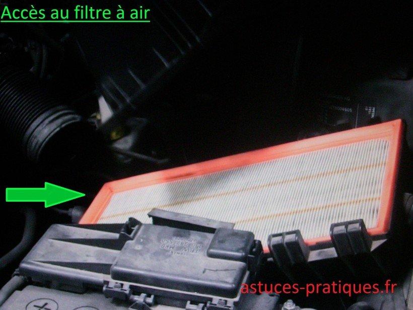Accès filtre à air