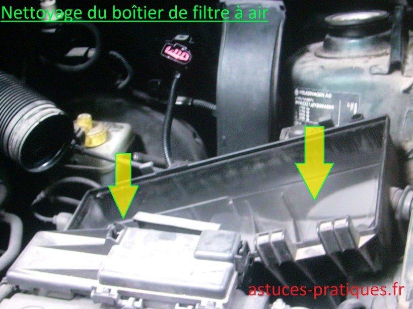 Nettoyage boîtier de filtre à air
