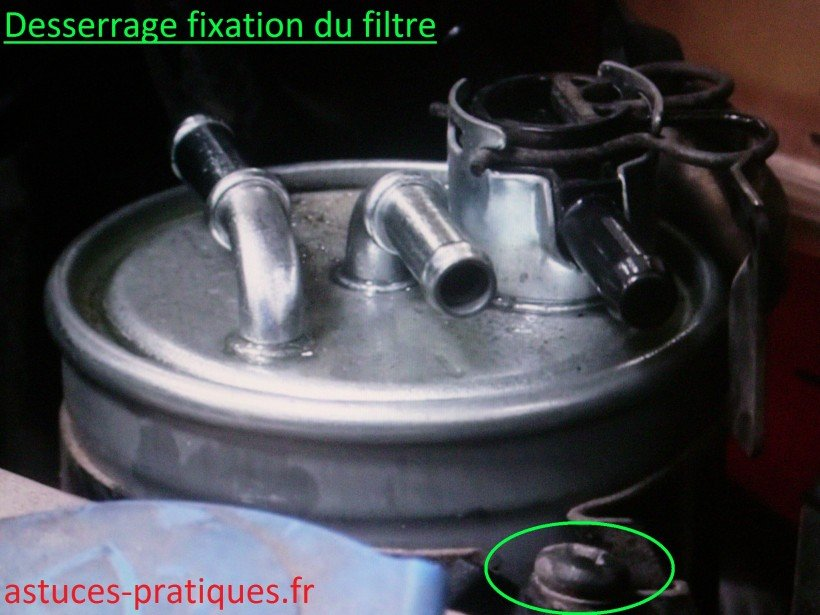 Desserrage fixation du filtre