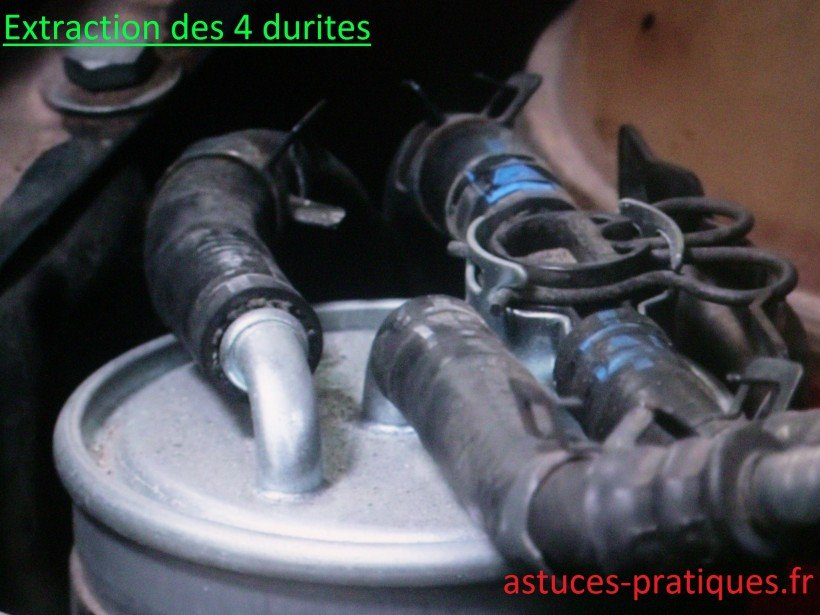 Extraction des 4 durites