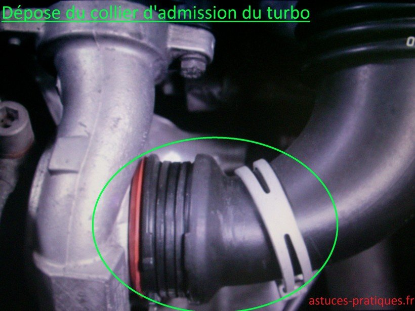 Dépose collier d'admission du turbo