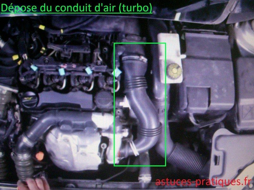 Dépose conduit d'air (turbo)