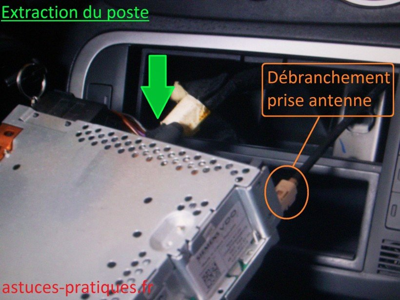 Extraction du poste
