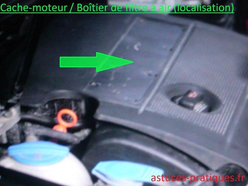 Localisation boîtier de filtre à air
