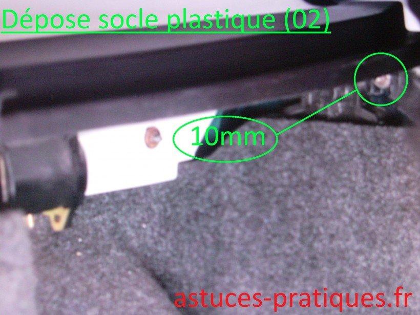 Dépose socle plastique (02)