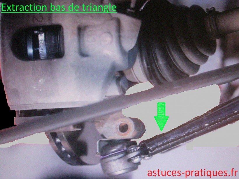 Extraction bas de triangle