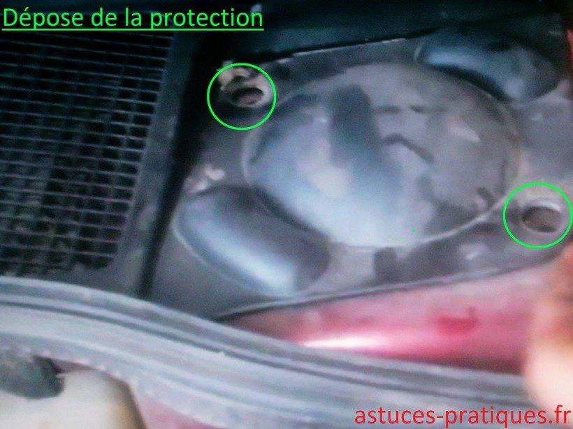 Dépose de la protecion
