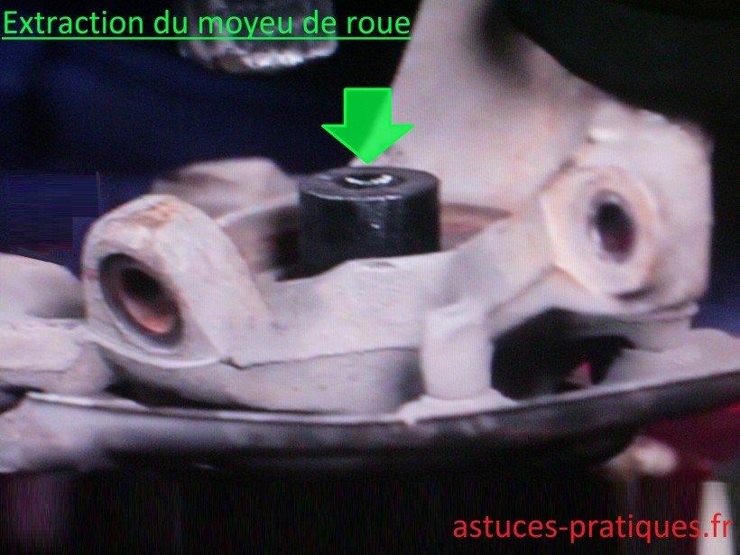 Extraction moyeu de roue