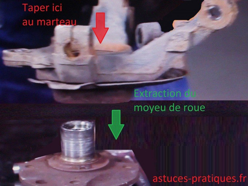 Extraction moyeu de roue