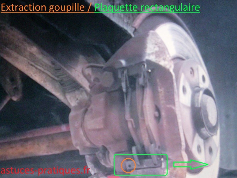 Extraction goupille / Plaquette rectangulaire